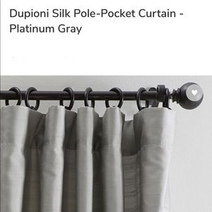4 Pottery Barn Dupioni Silk Pole-Pocket Curtains